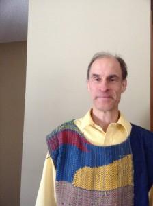 Wearing a SAORI Vest